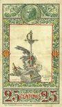 Banknoten Pyrénées Orientales (66). Syndicats Commerciaux. Billet. 25 centimes 1.9.1918, série O