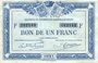 Banknoten Quimper & Brest (29). Chambres de Commerce. Billet. 1 franc 1921, série F