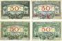 Banknoten Région Provençale (13). Billets. 50 centimes, série R12, R24, R6, R9