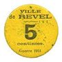Banknoten Revel (31). Ville. Billet. 5 centimes