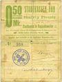 Banknoten Ribeauvillé (Rappoltsweiler) (68). Ville. Billet, carton. 0,50 mark. Non annulé