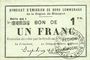 Banknoten Rimogne (08). Syndicat d'Emission. Billet. 1 franc 19.11.1917, série GG 1