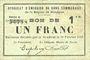 Banknoten Rimogne (08). Syndicat d'Emission. Billet. 1 franc 20.2.1916, série C