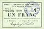 Banknoten Rimogne (08). Syndicat d'Emission. Billet. 1 franc 30.6.1916, série H 4