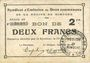 Banknoten Rimogne (08). Syndicat d'Emission. Billet. 2 francs 19.11.1917, série FF