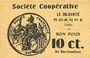 Banknoten Roanne (42). Société Coopérative La Solidarité. Billet. 10 centimes