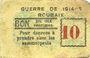 Banknoten Roubaix (59). Billet. 10 centimes, armoiries (6 mm)