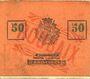 Banknoten Roubaix (59). Billet. 50 centimes, armoiries (5 mm)
