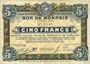 Banknoten Roubaix et Tourcoing (59). Billet. 10 francs du 20.4.1916, 7e série. N° 2648