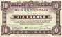 Banknoten Roubaix et Tourcoing (59). Billet. 10 francs du 20.4.1916, 7e série. N° 3454