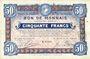 Banknoten Roubaix et Tourcoing (59). Billet. 50 francs du 12.8.1916, 8e série. N° 6005