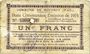Banknoten Rouvroy (62). Commune. Billet. 1 franc 7.11.1915