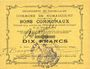 Banknoten Rumaucourt (62). Commune. Billet. 10 francs 20.12.1914, mention Annulé manuscrite