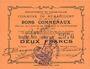 Banknoten Rumaucourt (62). Commune. Billet. 2 francs 16.8.1915, mention Annulé manuscrite