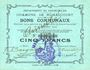 Banknoten Rumaucourt (62). Commune. Billet. 5 francs 20.12.1914, mention Annulé manuscrite