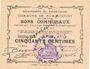 Banknoten Rumaucourt (62). Commune. Billet. 50 centimes 16.8.1915, mention Annulé manuscrite