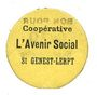 Banknoten Saint-Genest-Lerpt (42). Coopérative. L'Avenir Social. Billet. 10 centimes