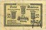 Banknoten Schirmeck. Ville. Billet. 50 pfennig 7.1918. Grand cachet communal