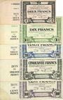 Banknoten Thiaucourt et St Mihiel (54). Syndicat de la Woëvre. Billets. 2, 10, 20, 50, 100 francs 2.8.1915