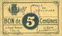 Banknoten Toulouse (31). Ville. Billet. 5 centimes
