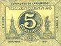 Banknoten Valenciennes (59). Communes de l'Arrondissement. Billet. 5 centimes, série 1