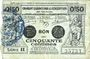 Banknoten Valenciennes (59). Emprunt Consortium. Billet. 50 centimes, série 11
