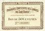 Banknoten Villandraut (33). Produits Forestiers des Landes du Sud-Ouest. Billet. 50 centimes