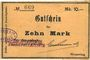 Banknoten Wesserling. Cros Roman & Cie. Billet. 10 mark. Annulé