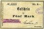Banknoten Wesserling. Cros Roman & Cie. Billet. 5 mark. Annulé
