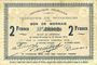 Banknoten Wignehies (59). Commune. Billet. 2 francs 21.10.1914