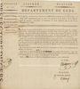 Banknoten Bon au porteur. 15 francs. 26 prairial an VIII. Département du Gers. R ! R !