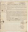 Banknoten Bon au porteur. 5 francs. 26 prairial an VIII. Département du Gers