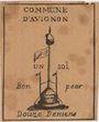 Banknoten Avignon. Commune. Bon pour 1 sol 12 deniers. FAUX
