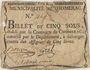 Banknoten Chomerac. Billet de 5 sous n. d.