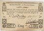 Banknoten Pont-du-Château. Billet de confiance de 5 sous n. d., 3 signatures
