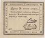 Banknoten Rouen. Bon de 3 livres du 31.7.1792