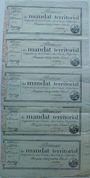 Banknoten Promesse de mandat territorial,  500 francs, feuille complète de 5 ex, 28 ventôse an 4,  mot série