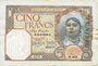 Banknotes Tunisie. Billet. 5 francs, type 1924, du 25.9.1940