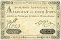 Banknotes Assignat. 5 livres. 27 juin 1792. Signature : Corsel