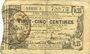 Banknotes Aisne, Ardennes et Marne - Bon régional. Hirson. Billet. 25 cmes 14.6.1917, série 3