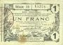 Banknotes Aisne, Ardennes et Marne - Bon régional. Laon. Billet. 1 franc 16.6.1916, série 19