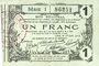 Banknotes Aisne, Ardennes et Marne - Bon régional. Laon. Billet. 1 franc 16.6.1916, série 1