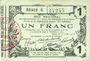 Banknotes Aisne, Ardennes et Marne - Bon régional. Laon. Billet. 1 franc 16.6.1916, série 6