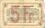 Banknotes Aisne, Ardennes et Marne - Bon régional. Laon. Billet. 5 francs 16.6.1916, série 2