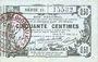 Banknotes Aisne, Ardennes et Marne - Bon régional. Laon. Billet. 50 cmes 16.6.1916, série 15