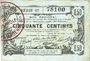 Banknotes Aisne, Ardennes et Marne - Bon régional. Laon. Billet. 50 cmes 16.6.1916, série 17