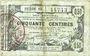 Banknotes Aisne, Ardennes et Marne - Bon régional. Laon. Billet. 50 cmes 16.6.1916, série 19