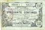 Banknotes Aisne, Ardennes et Marne - Bon régional. Laon. Billet. 50 cmes 16.6.1916, série 1