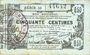 Banknotes Aisne, Ardennes et Marne - Bon régional. Laon. Billet. 50 cmes 16.6.1916, série 23