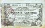 Banknotes Aisne, Ardennes et Marne - Bon régional. Laon. Billet. 50 cmes 16.6.1916, série 25